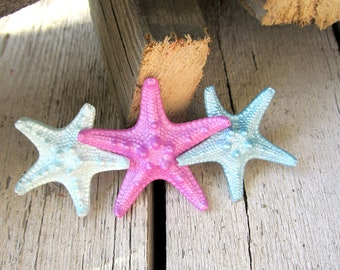 Starfish Hair Clip, Mermaid Hair Clip, Nautical Hair Clip, Knobby Starfish, Beach Weddings, Mermaid Accessories, Under the Sea Hair Clip