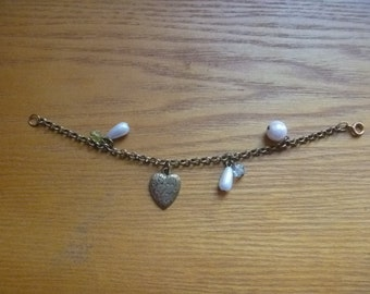 charm bracelet with heart, Valentines