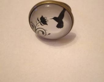 Cabochon ring bird, free