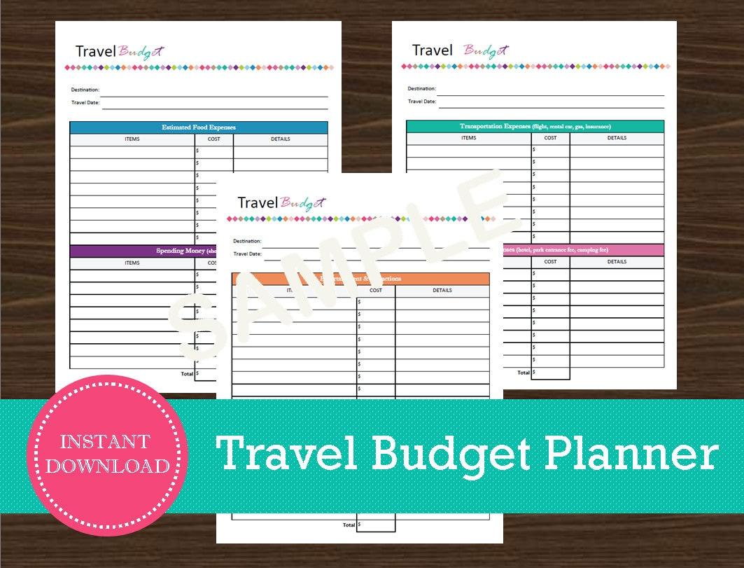 estimated travel expenses