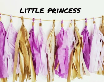 Lavender/Purple/Gold Tassel Garland