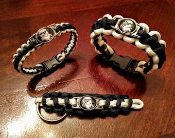 Star Wars Stormtrooper Inspired Paracord Bracelet Keychain or Set