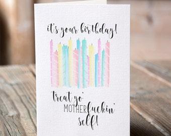 funny birthday card / cute funny birthday card / inappropriate birthday card