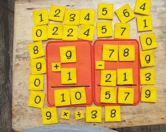 Learning  Math Busy Board : Addition. Subtraction, Multiplication, Division, Math. Home School. Pre School. Learning. Educational.