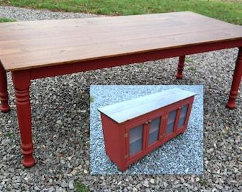 Dining Room Set, Sideboard Buffet, Farm Table