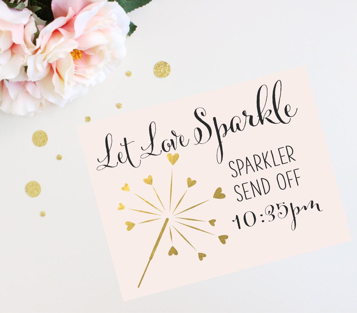 Sparkler send off sign let love sparkle personalized printable sparkler send off sign let love sparkle personalized printable quick turnaround diy print kristyandbryce Images