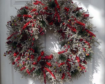 Christmas Wreath , Christmas Wreath For The Door , Holiday Wreath , XL Christmas wreath , Winter Wreath , Holiday Door Wreath , Natural
