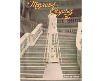 Macramé Elegance III - 20 Vintage Macrame Patterns Instant Download PDF 31 pages