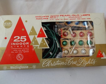 Christmas Lights Vintage Pearl-Glo Westinghouse in box