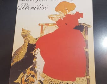 French vintage style advertising print
