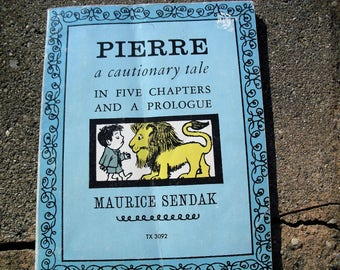 Vintage Book Pierre A Cautionary Tale by Maurice Sendak
