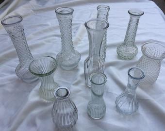 Lot of 10 bud Vases