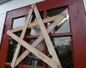 "Reclaimed wood lath star - 24"""
