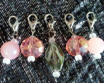 Glass Crochet Stitch Markers
