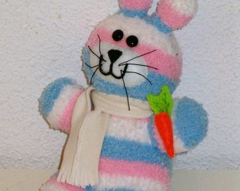 Plushie rabbit (made out of socks)