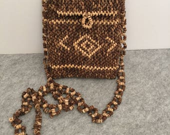 Vintage Wooden Beaded Bag