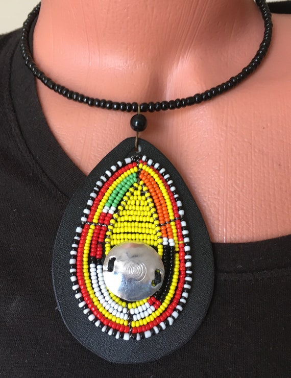 Choice of Beaded Chokers, Zullu Beaded Necklace, African Jewelry