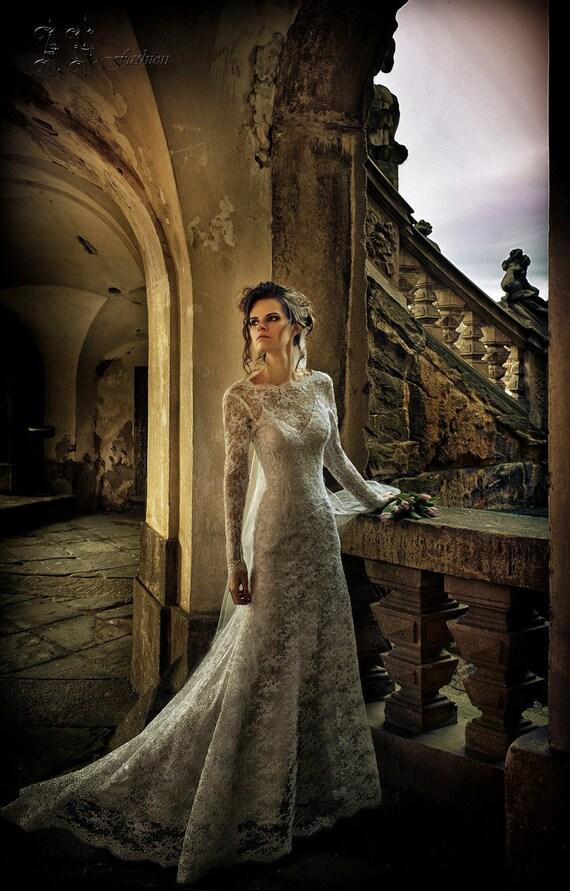 Dress dress Wedding Long Long Dress Fitted Simple Boho A Line Dress Wedding Backless Bridal Dress Dress wedding Sleeve Lace Wedding qwXXxfOr