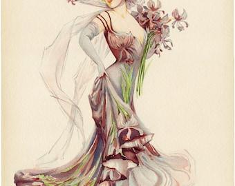 Fashion Illustration, Victorian Fashion, Purple Fashion, Victorian Fashion Illustration, Illustration Fashion, Victorian Illustration, Print