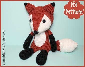 Fox Crochet Pattern, Fox Amigurumi, Amigurumi PDF Pattern, Fox Plush, Fox Plushie, Fox Toy, Crochet Toy, Amigurumi Tutorial, Fox Doll, Fox