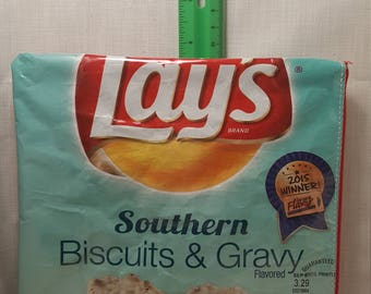 Biscuits and gravy upcyced zipper purse