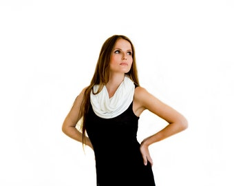 Ivory Modest Cover Up Versatile Scarf You Can Wear At 4 Ways- Shawl, Shrug, Crisscross And Scarf. Casual Modest Fashion, Ivory Scarf