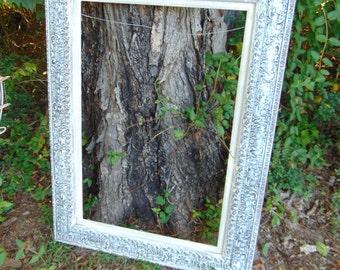 Textured Mirror, Large Mirror, Beach Cottage Mirror, ART Frame, French Country, Wall Mirror, Wall Frame, Size 48 x 35