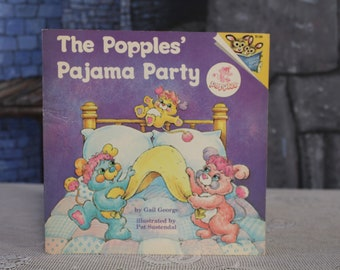 The Popples' Pajama Party by Gail George Illustrated Pat Sustendal 1986 read to me softcover children's book Vintage Retro 80's collectible