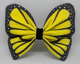 Monarch Butterfly Hairbow -- Yellow Special