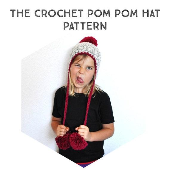Patron Crochet Gorro Peruano con Pompones tutorial paso a
