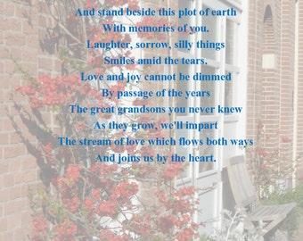 Bespoke Memorial Poem Example