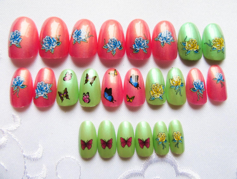 Lujo Colores De Uñas Ovaladas Patrón - Ideas de Pintar de Uñas ...