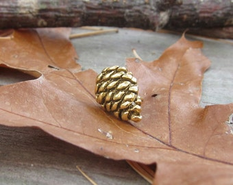 Gold Pine Cone Lapel Pin- CC353G- Pine Cone, Woods, Hiking, Woodland, Tree, Nature