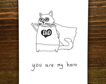 Dad, You Are My Hero - Handmade Card
