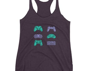 video game tank-top, controller tank-top, old video game tank-top, gamer tank-top