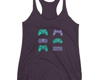 video game tank-top, controller tank-top, old video game tank-top, gamer tank-top