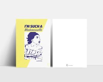 Mademoiselle Postcard | Yellow