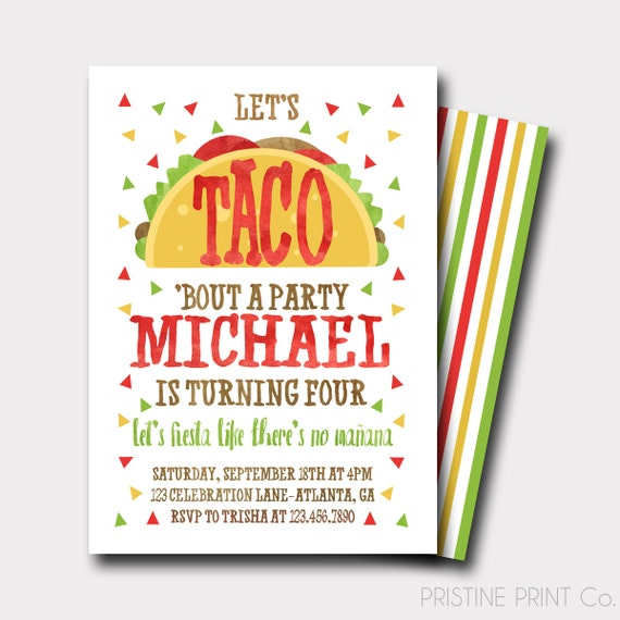 Taco birthday invitation fiesta birthday invitation fiesta filmwisefo