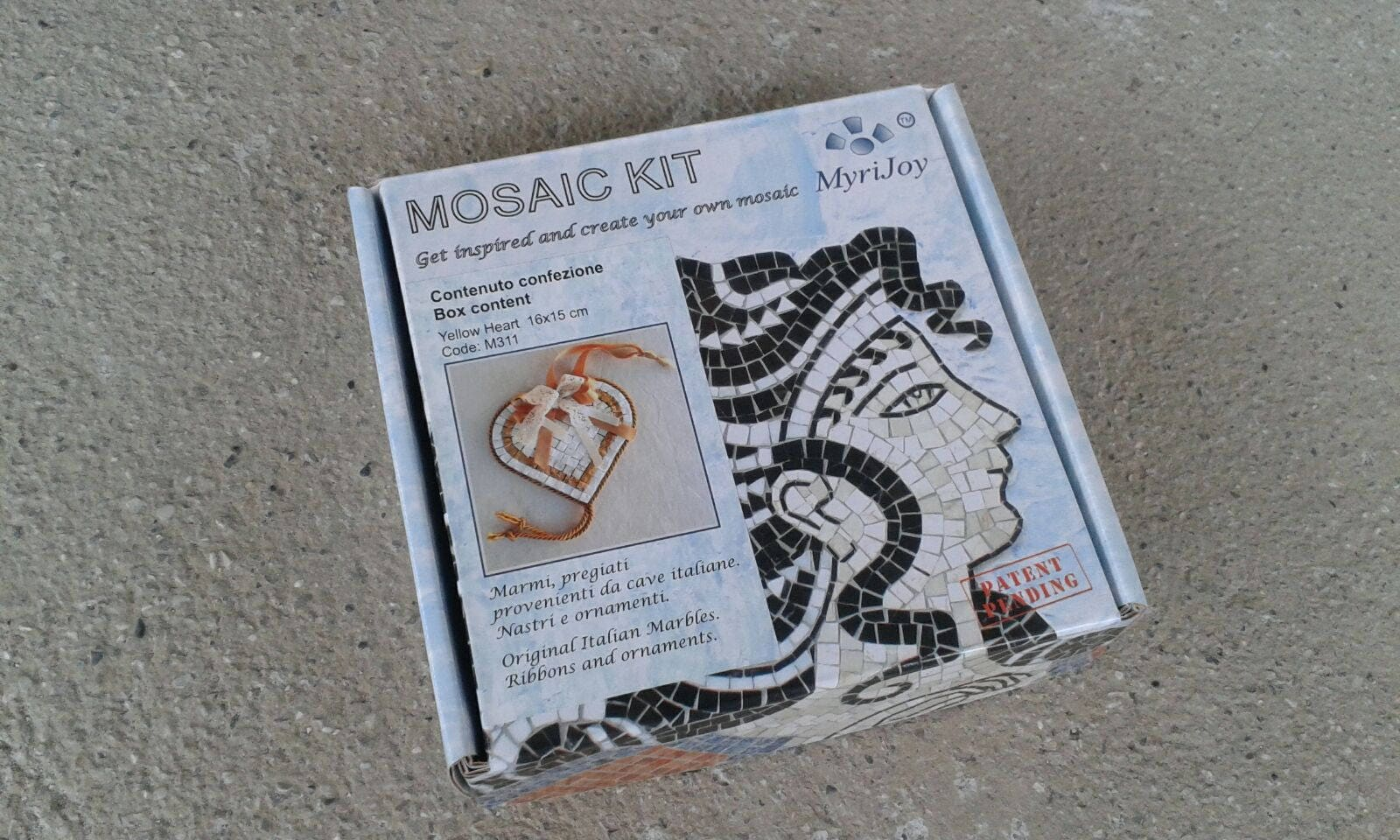 Do it yourself mosaic kit yellow heart marble tiles unique 4781 solutioingenieria Gallery