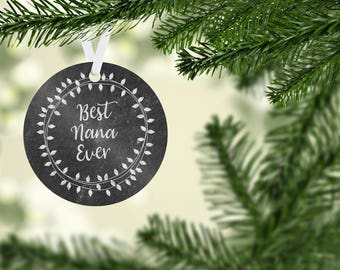 Best Nana Ever Christmas Ornament