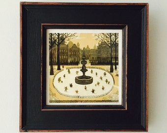Framed Miniprint: The Ice Skaters!