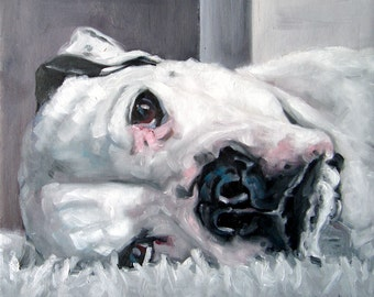 "DivaDogs, CUSTOM Pet Portrait Oil Painting by puci, 8x8"""