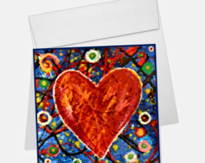 Heart Printed Greeting Card