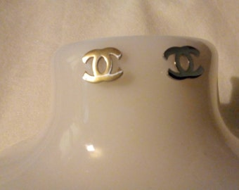 Pretty little initial c silver colour studs