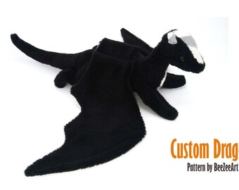 Custom Baby Dragon Plush - multiple color options - made to order