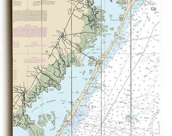 NJ: Long Beach Island, NJ Nautical Chart Sign
