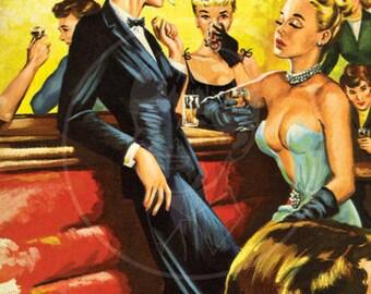 Lesbian Jungle - 10x17 Giclée Canvas Print of Vintage Pulp Paperback