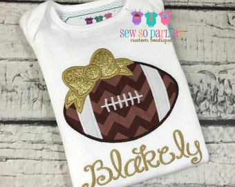 Baby girl football outfit - Baby girl gold Football shirt - personalized outfit - girl football shirt - Girl Football Outfit - Girl Clothes