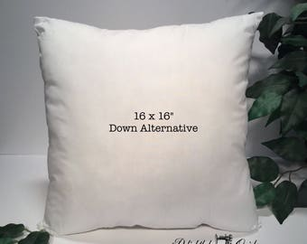 "Pillow Form, Pillow Insert, 16x16"" Pillow Insert, 16x16"" Pillow Form"