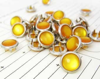 24 Marigold Cowgirl Snaps Pearl Prong Western Snaps